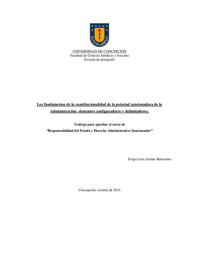 UNIVERSIDAD DE CONCEPCIÓN Facultad de Ciencias Jurídicas y Sociales Escuela de postgrado  Los fundamentos de la constituci...