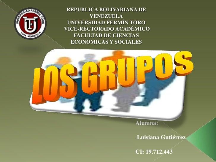 REPUBLICA BOLIVARIANA DE        VENEZUELA UNIVERSIDAD FERMÍN TOROVICE-RECTORADO ACADÉMICO   FACULTAD DE CIENCIAS  ECONOMIC...