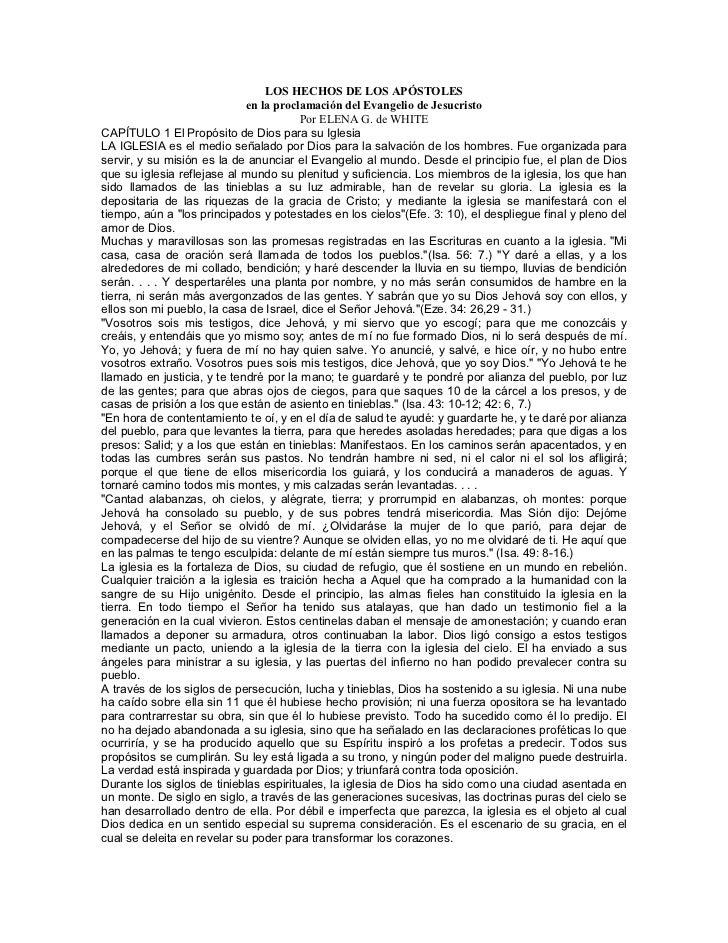 LOS HECHOS DE LOS APÓSTOLES                             en la proclamación del Evangelio de Jesucristo                    ...