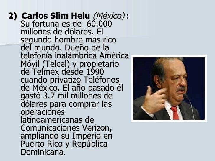 Hombre Mas Rico de Mexico el Segundo Hombre Más Rico Del