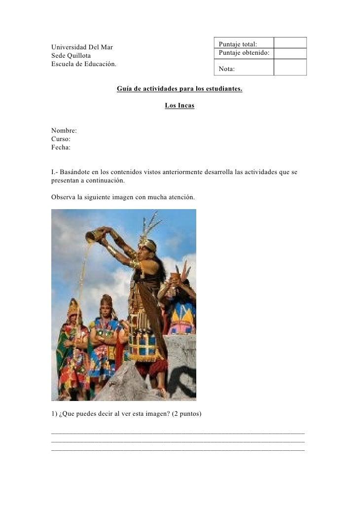 Universidad Del Mar                                       Puntaje total: Sede Quillota                                    ...