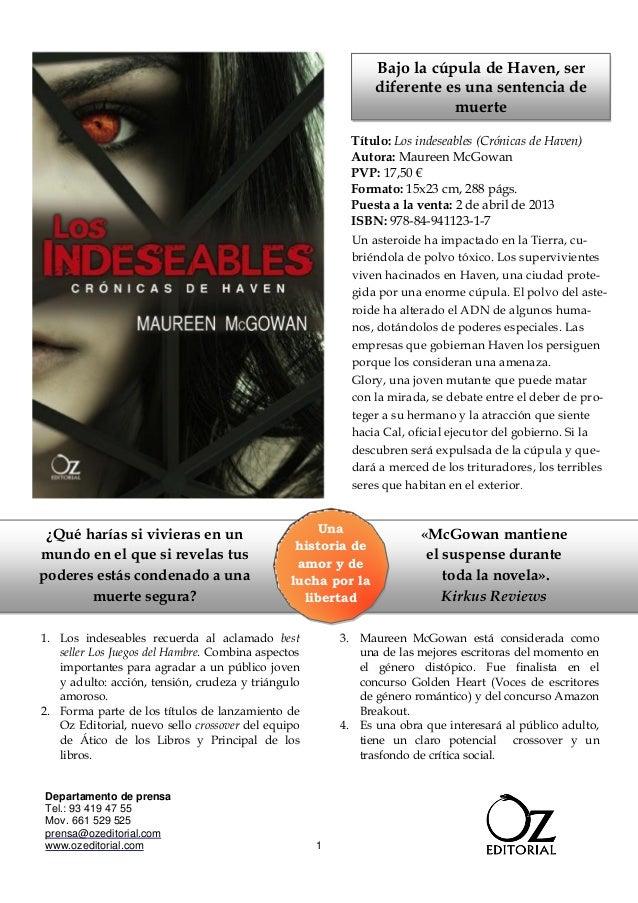Los indeseables de maureen mc gowan