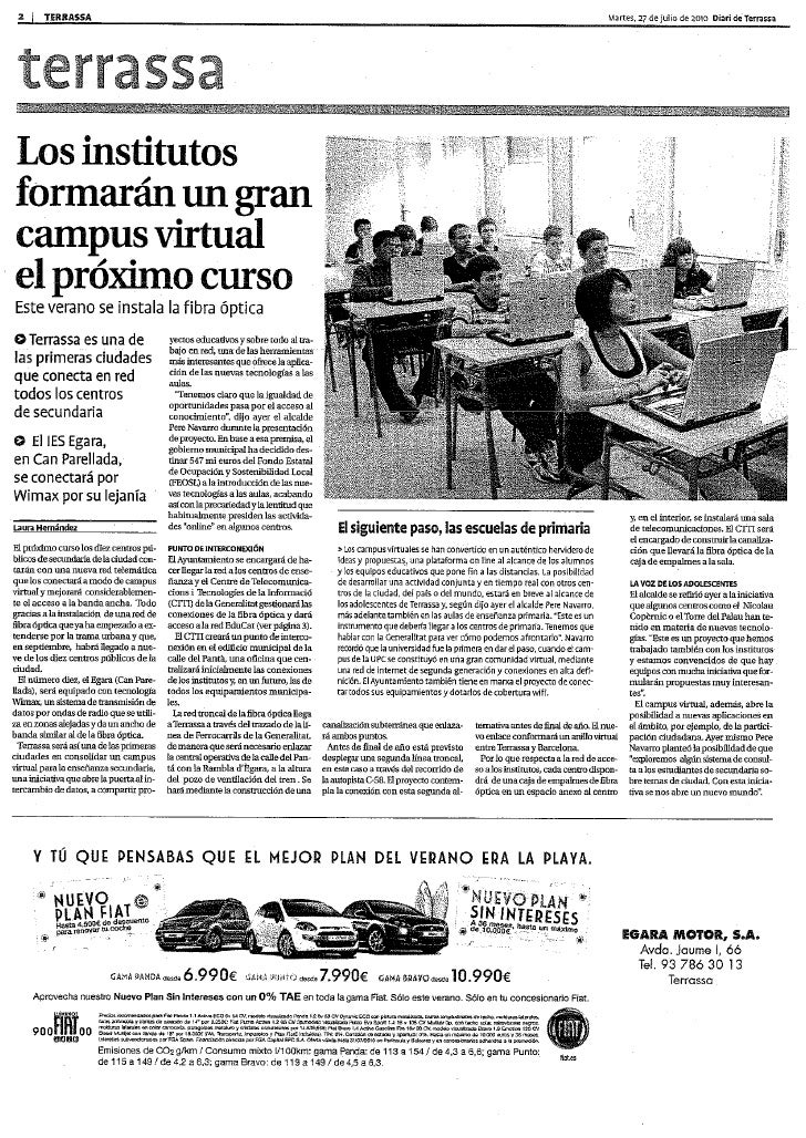 Els instituts de Terrassa formaràn un gran campus virtual