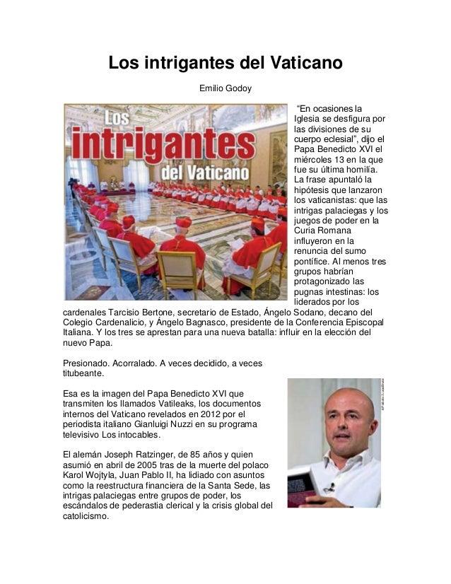 Los intrigantes del Vaticano                                    Emilio Godoy                                              ...