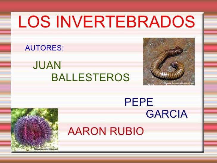 LOS INVERTEBRADOS AUTORES: JUAN  BALLESTEROS PEPE GARCIA AARON RUBIO