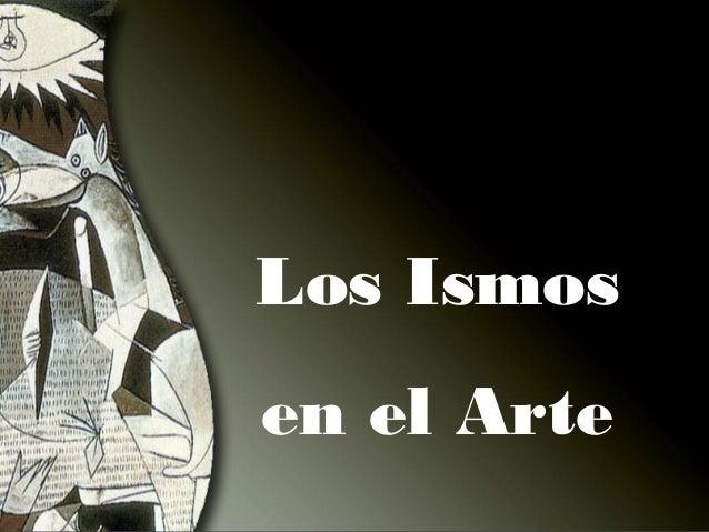 Los ismos en el arte