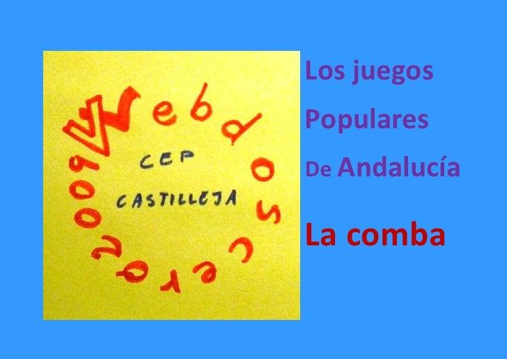 Los juegos Populares De Andalucía  La comba
