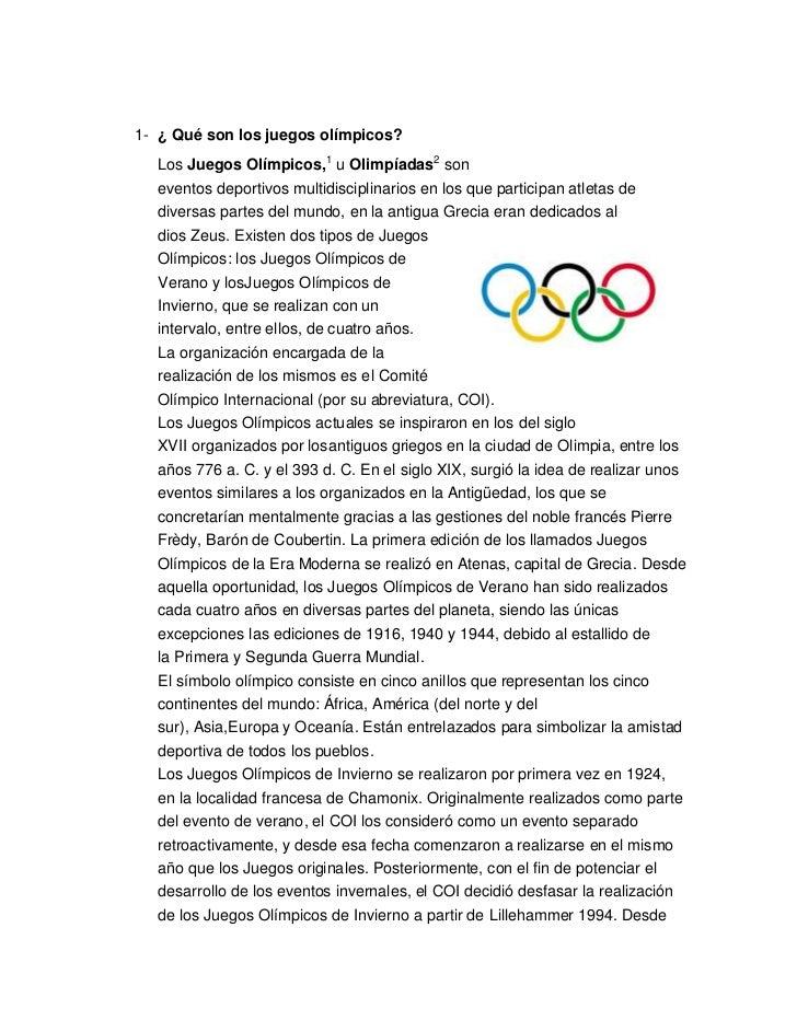 ¿ Qué son los juegos olímpicos?<br />3272790766445LosJuegos Olímpicos,1uOlimpíadas2son eventosdeportivosmultidiscipl...