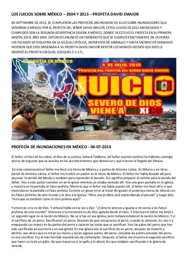 Los juicios sobre México en 2004 y 2013 - Profeta David Owuor