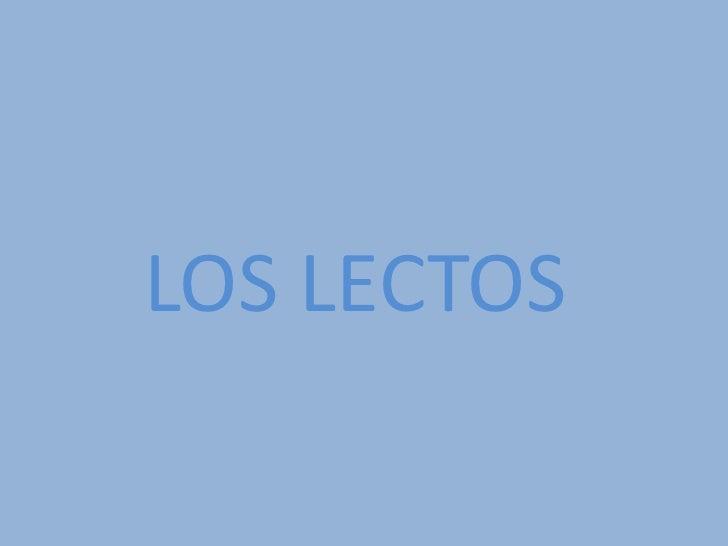 LOS LECTOS<br />