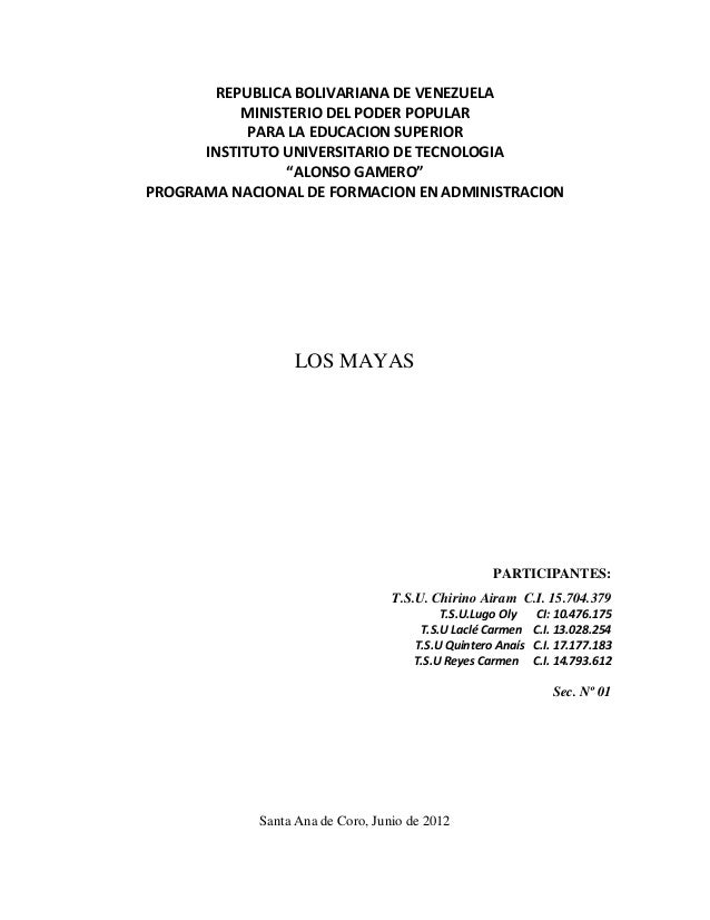 REPUBLICA BOLIVARIANA DE VENEZUELA           MINISTERIO DEL PODER POPULAR            PARA LA EDUCACION SUPERIOR      INSTI...