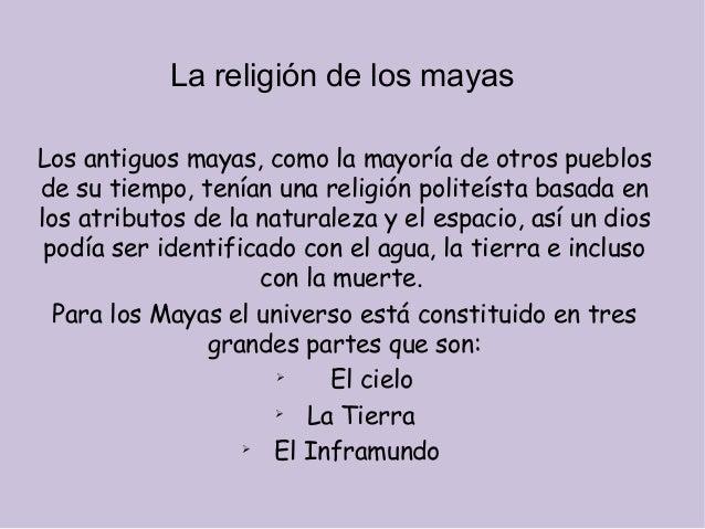 Los Mayas Religion y Cultura la Religión de Los Mayas Los