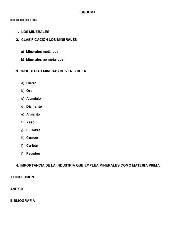 ESQUEMA<br />INTRODUCCIÓN<br />LOS MINERALES<br />CLASIFICACIÓN LOS MINERALES<br />Minerales metálicos<br />Minerales no m...