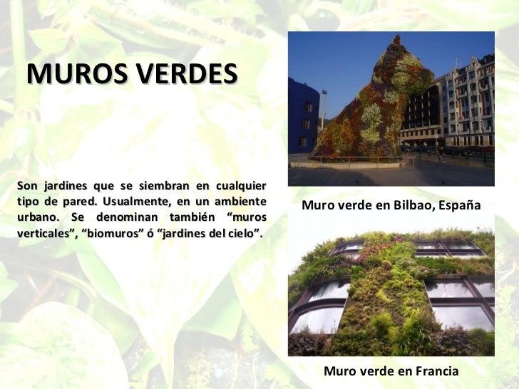 Los muros verdes for Muros verdes definicion