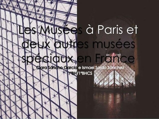 Les Musées à Paris et deux autres musées spéciaux en France