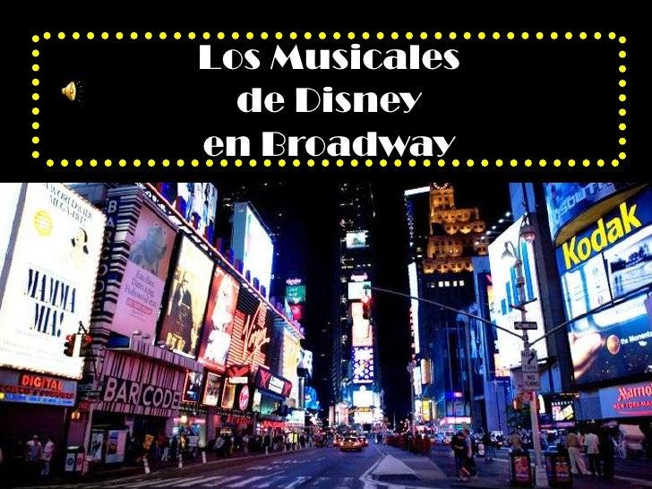Los Musicales   de Disney en Broadway