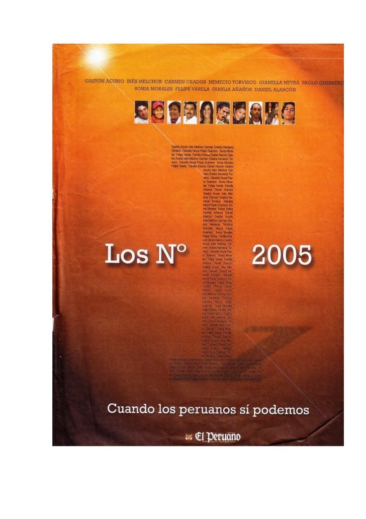 Los n°1del 2005. Publicación Diario El Peruano