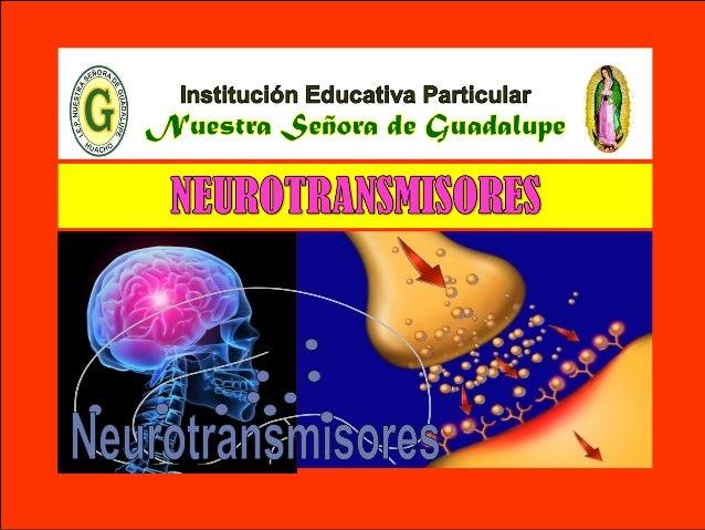 V - Unidad : Biología TEMA: TEJIDO NERVIOSO I.E.P «Nuestra Señora de Guadalupe» Son mensajeros químicos que utilizan las N...
