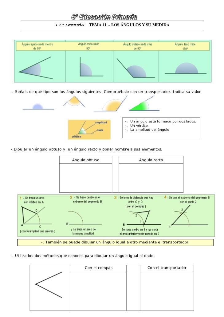 Los ángulos y sus medidas