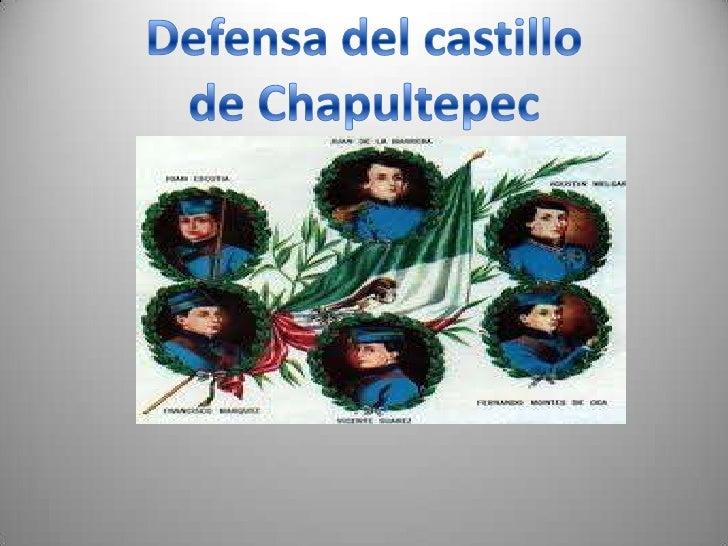 Defensa del castillo<br />de Chapultepec <br />