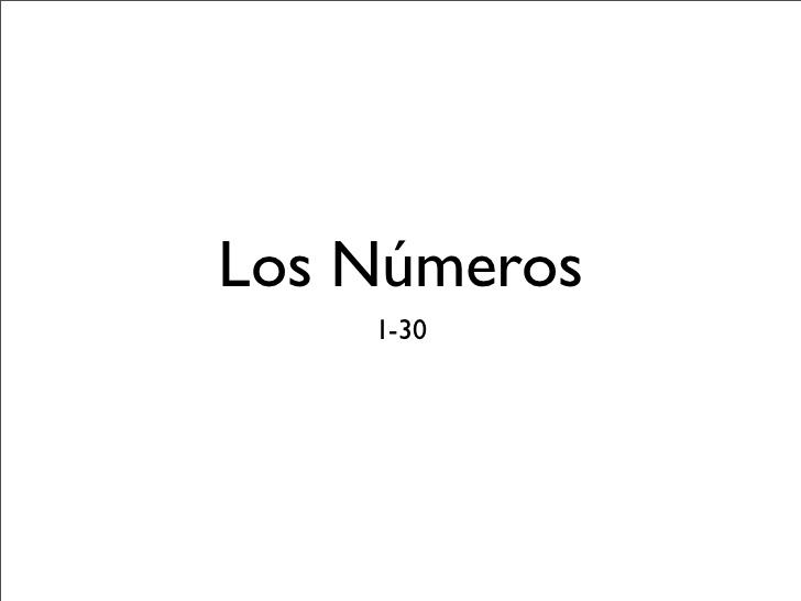 Los números 1-