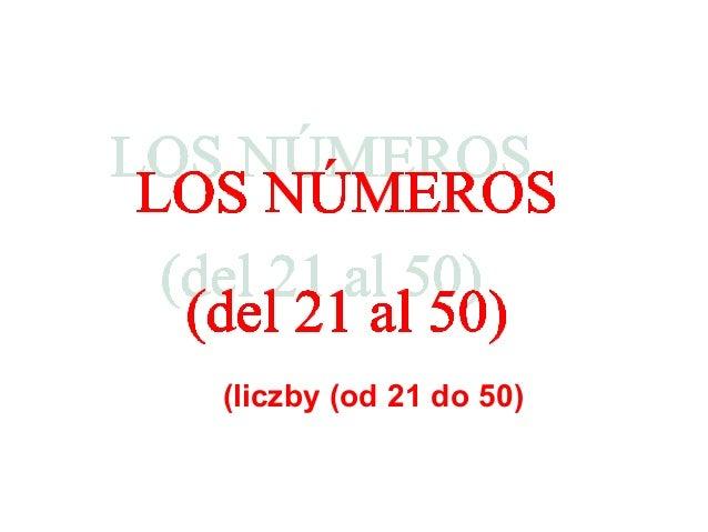 Los números (del 21 al 50)