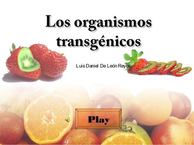 Los organismosLos organismostransgénicostransgénicosLuisDaniel DeLeón ReyesPlay