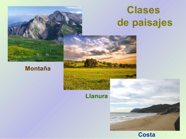 Los paisajes para ni os primaria - Tipos de paisajes ...