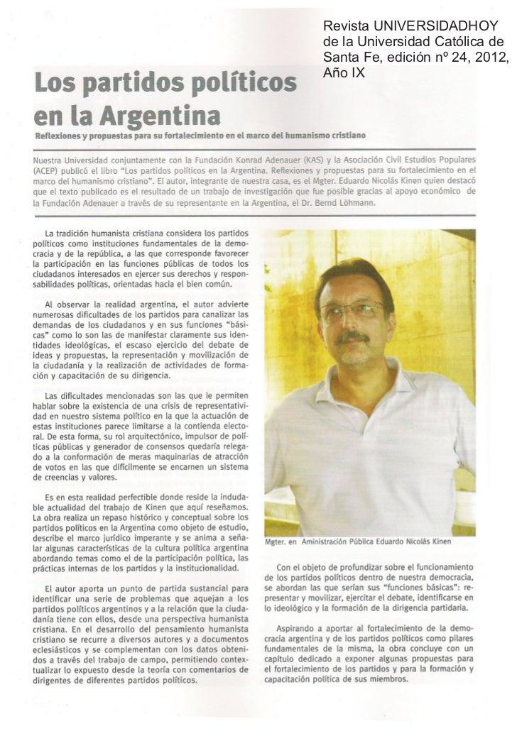 Los partidos pol ticos en la argentina revista for Chimentos de hoy en argentina