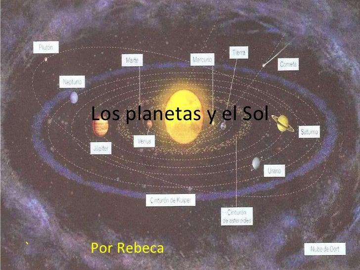 Los planetas y el sol