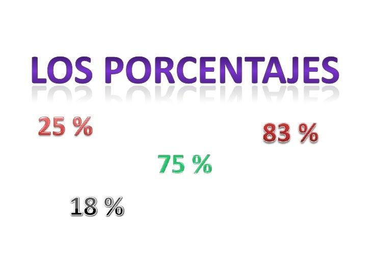 Los porcentajes