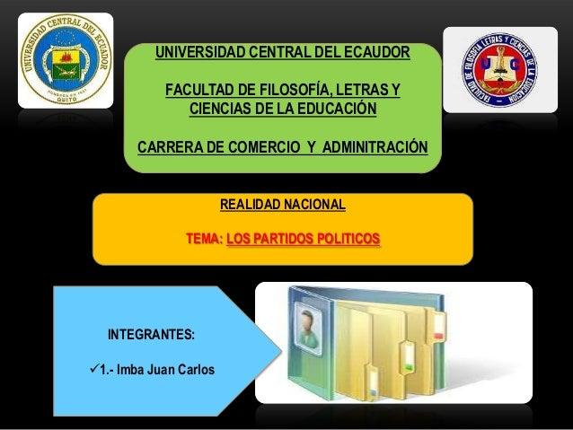 PRINCIPALES PARTIDOS POLÍTICOS DEL ECUADOR