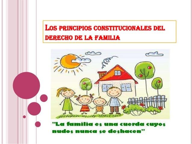 LOS PRINCIPIOS CONSTITUCIONALES DEL DERECHO DE LA FAMILIA