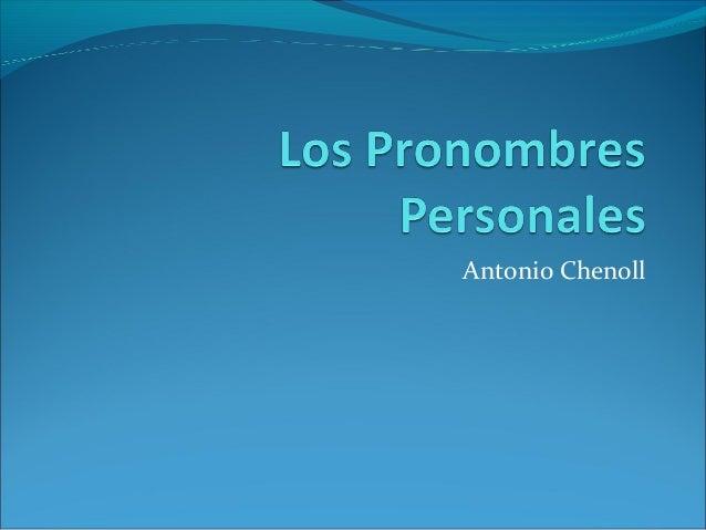 Antonio Chenoll