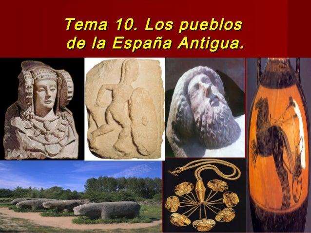 Tema  10 ( 12 del libro ) La península Ibérica durante la antiguedad 1º ESO. 2014