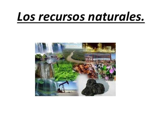Los recursos naturales.