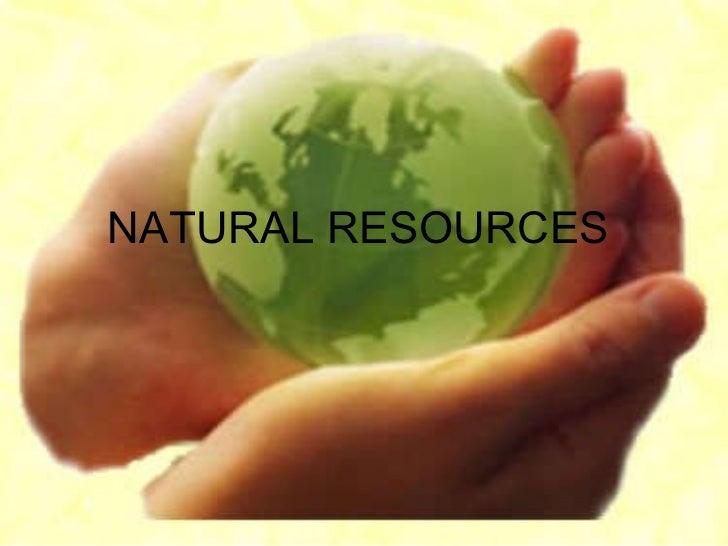 Los recursos naturalesen ingles
