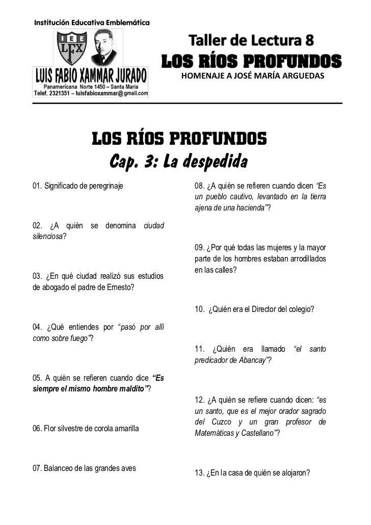 LOS RÍOS PROFUNDOS                      Cap. 3: La despedida01. Significado de peregrinaje            08. ¿A quién se refi...