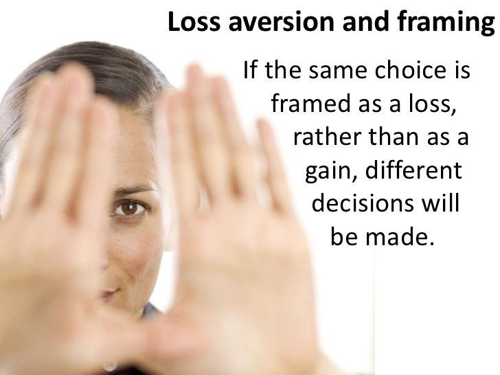 loss aversion About ten years ago, a pair of economists published a study on loss aversion in the residential housing market (gated version here)homeowners, they found, held out for more money, about 25-35 percent above the expected selling price, and ended up paying for it — either by not selling or by having their property languish on the market for.