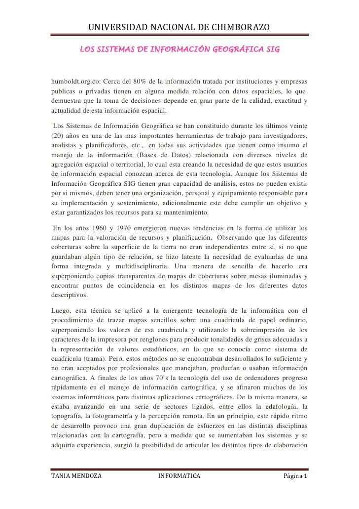 LOS SISTEMAS DE INFORMACIÓN GEOGRÁFICA SIG <br />humboldt.org.co: Cerca del 80% de la información tratada por institucione...
