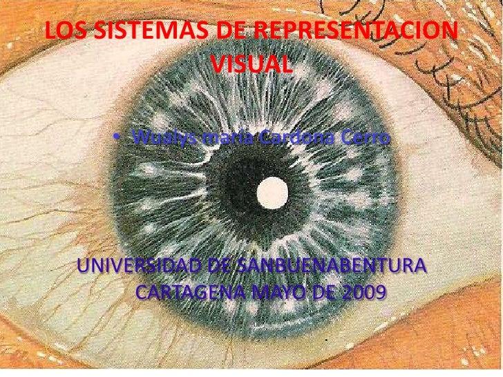 LOS SISTEMAS DE REPRESENTACION             VISUAL       • Wualys maría Cardona Cerro       UNIVERSIDAD DE SANBUENABENTURA ...