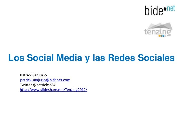 Los Social Media Y Las Redes Sociales2