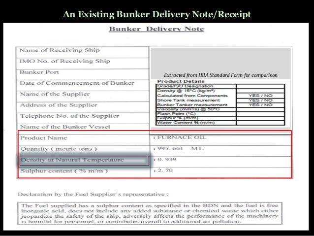 standard shipping note template - marine education bunker checklist calculations and sopep