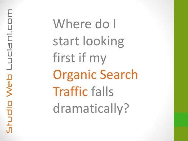 Where do Istart lookingfirst if myOrganic SearchTraffic fallsdramatically?