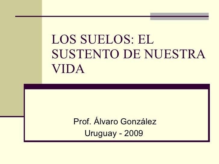 LOS SUELOS: EL SUSTENTO DE NUESTRA VIDA Prof. Álvaro González Uruguay - 2009