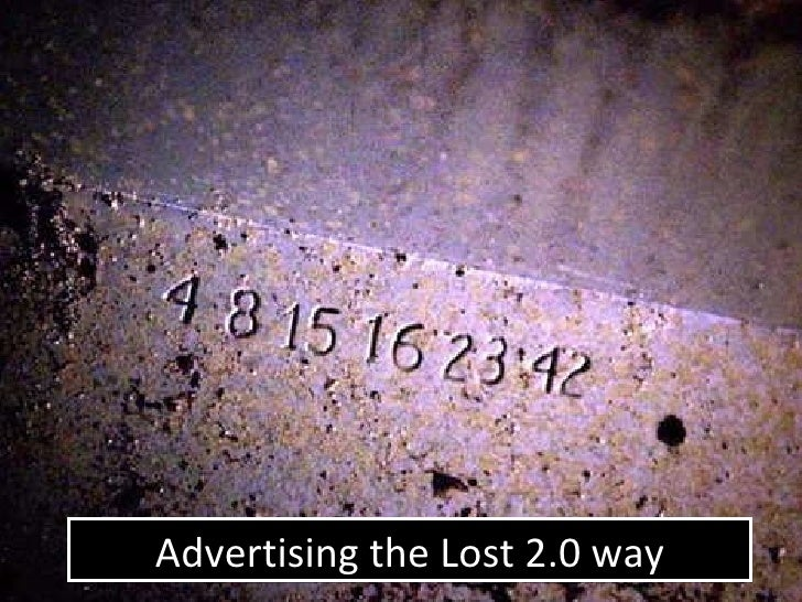 Advertising the Lost 2.0 way