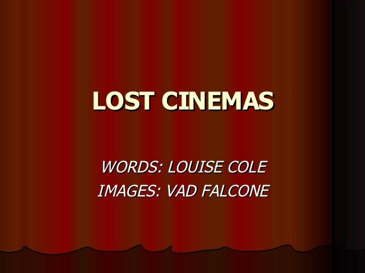 Lost Cinemas