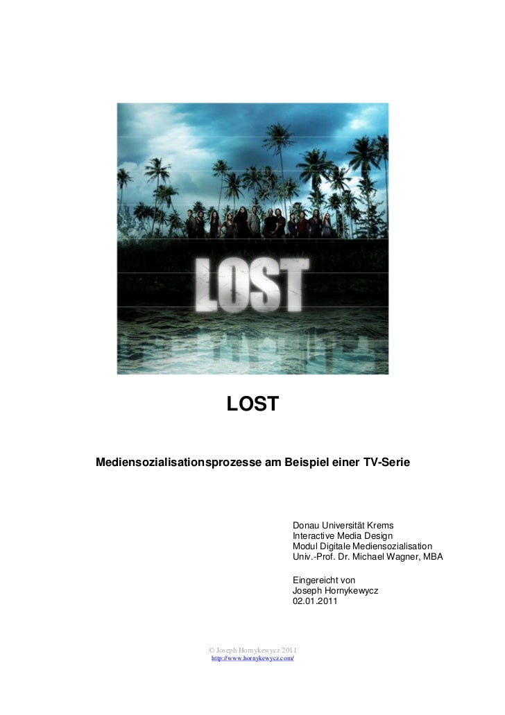 LOSTMediensozialisationsprozesse am Beispiel einer TV-Serie                                              Donau Universität...