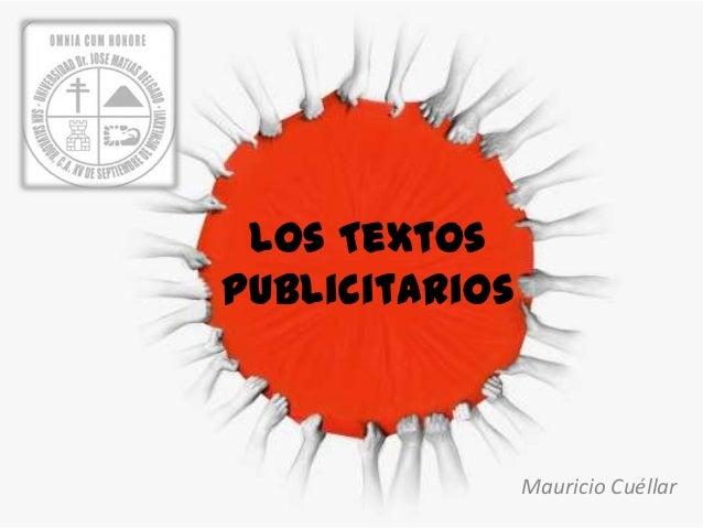 Los TextosPublicitarios                Mauricio Cuéllar
