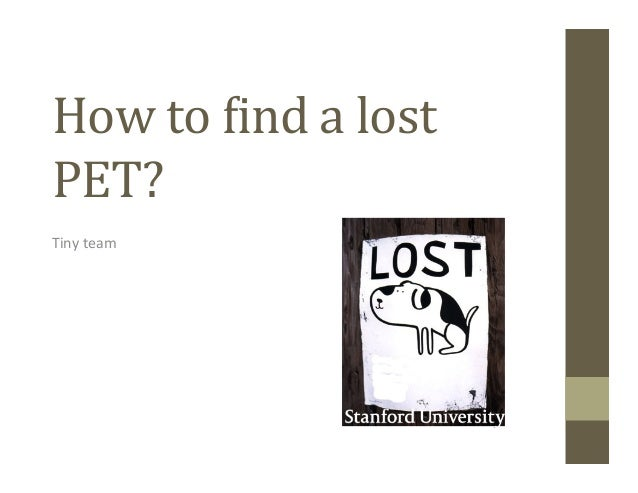 How	  to	  &ind	  a	  lost	  PET?	  Tiny	  team